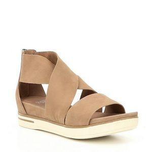 Eileen Fisher brown wrap around sandals size 11